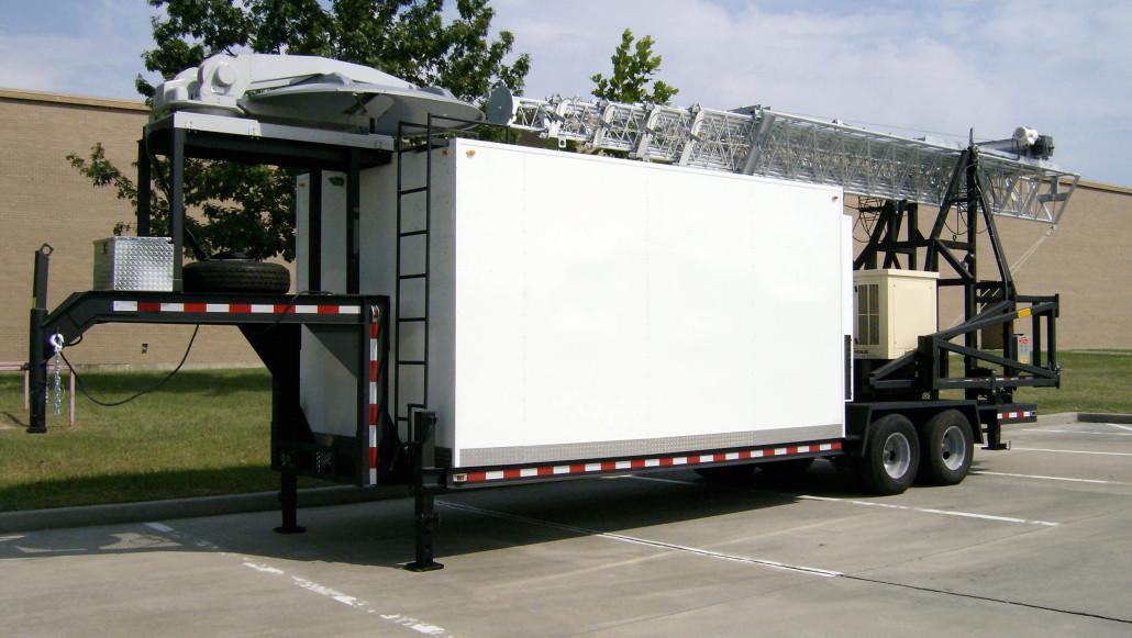 Saudi Mobile Trucks Shelters : Cell on wheels light truck mobile tower