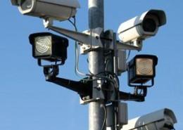 Cameras on mast